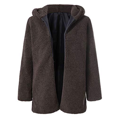 JMETRIC Warme lässige Winterjacke mit Fleece-Fleece für -