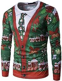 Tomatoa Weihnachtspullover Herren Strickjacke Sweatshirt Pulli Sweatjacke  Weihnachtspulli Männer… EUR 0 ... 79bb8458cf