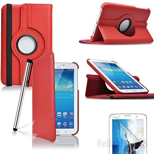Samsung Galaxy Tab 3 7.0 17,78 cm billigen TOPGADGETSUK Buch und Standfunktion, inklusive: Displayschutzfolie (für Galaxy Tab 3 17,78 cm Zoll P3200/P3210, WiFi oder 3 G + WLAN), Galaxy Tab 2 17,78 cm Schutzhülle Bestseller von Verkäufer 360 RED