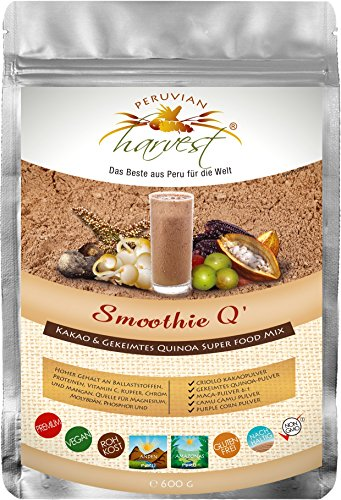 Super Smoothie Mix (UHTCO Peruvian Harvest Smoothie Q - Super Food Mix 600g | Das Beste aus Peru für die Welt)