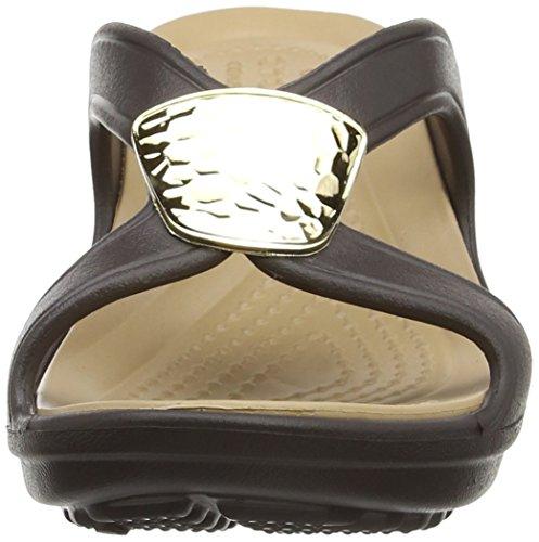 Crocs Snrhembllshdwdg, Sandales Bout Ouvert Femme Or (Bronze/Gold)