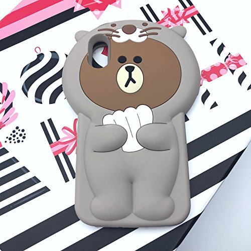 [caserbay] iPhone Handy Fall 3D Cute Cartoon Kawaii Tier Serie Soft Silikon Gummi Schutzhülle, for iPhone X (5.8
