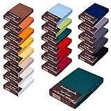 Topper Spannbettlaken/Laken F. BOXSPRINGBETT-Topper - 100% Feinste Mako-Baumwolle - 19 Farben - Sehr...