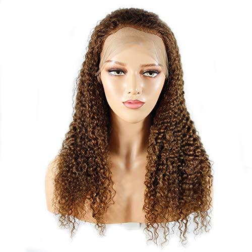 KINYNE Verworrenes Lockiges Menschenhaar-Spitze-Front-Perücken 100% Brasilianisches Haar Mit Dem Baby-Haar Glueless Natürlicher Haarstrich Dichte 130% Für Frauen (8-24 Zoll),22Inch