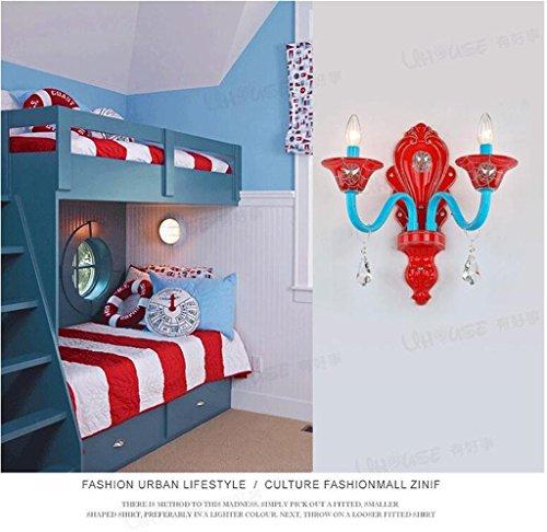 L'éclairage des enfants La nouvelle bande dessinée lampe murale chambre à coucher créative salle LED diamant chevet garçons lampe appliques murales pour enfants Spider-Man
