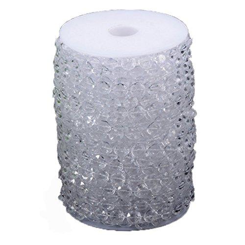 30M 100FT 10mm Perlas cristal como Iridiscente Octagonal