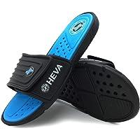 HEVA Men's Slide Sandals Fashion Open Toe Beach Pool Slippers