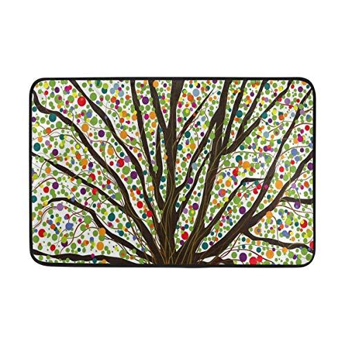 Yting Multi árbol Colorido Lunares Felpudo Antideslizante