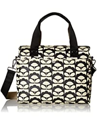 df520060ce7 Orla Kiely Women s Zip Messenger Bag, Black (Charcoal), 32.5x30.5x8