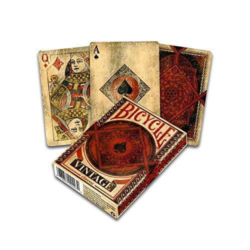 Fournier- bicycle vintage mazzo di carte per collezionista, colore negro e rojo, 1040828