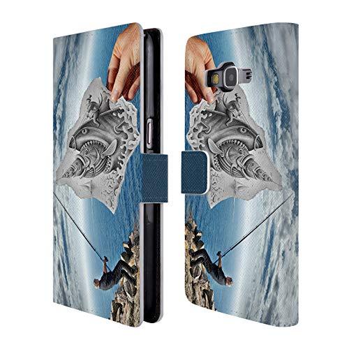 Head Case Designs Offizielle Ben Heine Fischerei Bleistift Gegen Kamera Brieftasche Handyhülle aus Leder für Samsung Galaxy Grand Prime