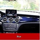 Cubierta de fibra de carbono para consola central de aire acondicionado, para Mercedes Benz GLA