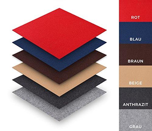Teppichfliesen Nadelfilz selbstklebend Sparpaket (25 Fliesen = 4 m²), Farbe: Beige, Variante: 40 x 40 cm