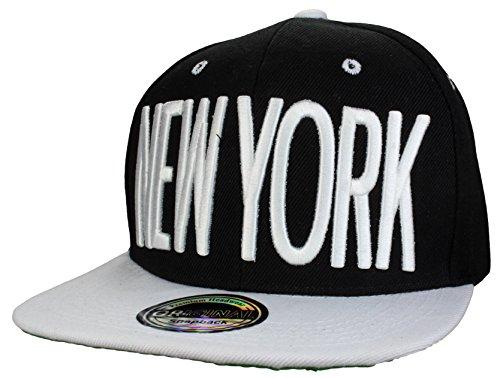 Casquette Miami & New York & Los Angeles Snapback Cap / Casquette Baseball New York noir/blanc Neu
