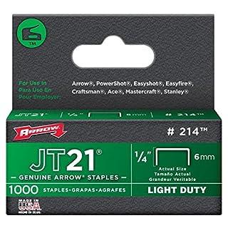 Arrow FASTENER - 6MM Jt21/Jt27 Staples (Pk 1000)