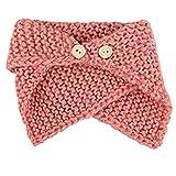 TININNA Autunno e Inverno Bambino caldi Sciarpa di lana a maglia Moda Sciarpa Due Strati scaldacollo Sciarpe Rosa
