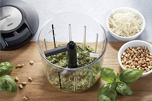 Gefu 13600 Zerkleinerer SPEEDWING - Manueller Mixer für Gemüse oder Obst - Profi Schneider aus Edelstahl mit Behälter