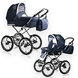 Bebebi Loving | 2 in 1 passeggino con carrozzina modulari combinabili | Nostalgie Passeggini compatti per bambini | Colore: Blue Ardent