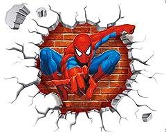Idea Regalo - Kibi Spiderman 3D Adesivo Muro Spiderman Adesivo da Parete Spiderman Adesivi Murali Spiderman Stickers Muro Spiderman Stickers Muro Uomo Ragno