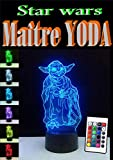 3D LED-Lampe Yoda