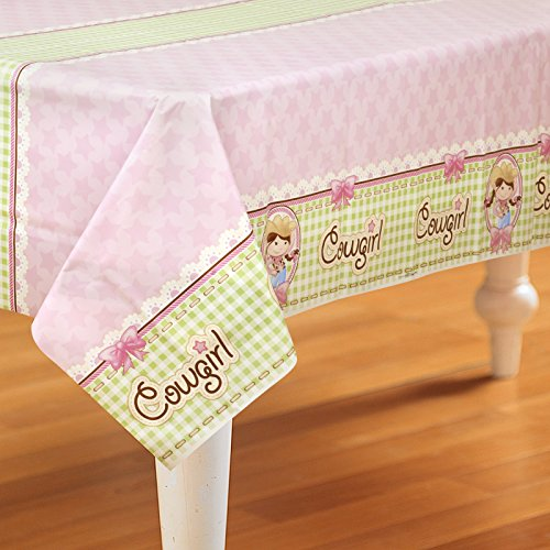 Pink Cowgirl Party Supplies - Plastic Table Cover by - Party Supplies Cowgirls