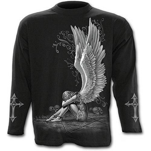 Espiral–para hombre–Enslaved Angel–Camiseta de manga larga, color negro - negro -