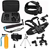 SHOOT 8in1 Accessories Kit for GoPro Hero 6 Hero5 Gopro 4 3 2 1 GoPro Hero Session SJCAM SJ4000 SJ5000 SJ6000 AKASO EK7000 Apeman A70 APEMAN A80 Xiaomi Yi WiMiUS Sony Sports Camera