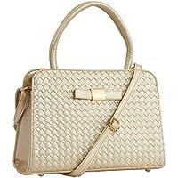 Lino Perros Women's Satchel Handbag (Golden)