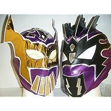 Sin Cara e Kalisto–La lucha Dragons maschere da Wrestling con chiusura a zip per bambini, colore: viola