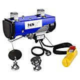 MSW Seilzug Seilwinde Elektrisch Seilhebezug PROLIFTOR 250 (250 kg, 540 W, Stahlseil 12 m, Kabelreiß Widerstand 800 kg) blau