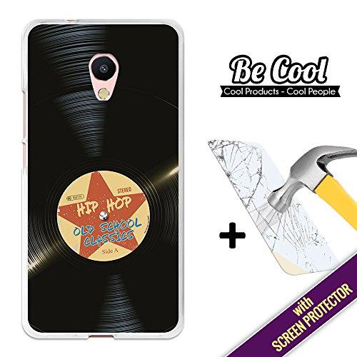 BeCool® - Custodia Cover [ Flessibile in Gel ] per Meizu M5s [ +1 Pellicola Protettiva Vetro ] Ultra Sottile Silicone,protegge e si adatta alla perfezione al tuo Smartphone. Disco vinile hip hop.