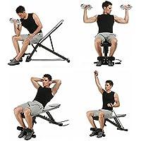 mymotto–Banco de musculación regulable plegable AB banco de ejercicios, banco de poid Fitness con declive de inclinación para gimnasio/Ejercicios de electrodoméstico