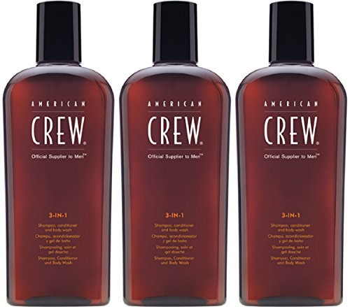 American Crew 3 in 1 Shampoo, Conditioner & Bodywash 3x 250ml = 750ml