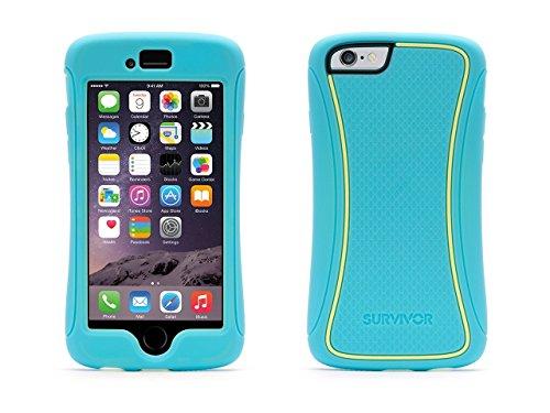 Griffin Survivor Slim TwoTone Schutzhülle für iPhone 6/6s – türkis/gelb/gelb Türkis/Gelb/Gelb