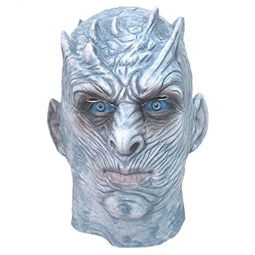 WYJSS Karneval Halloween Maske Perfekt für Horror Ghost Haunted House Requisiten Latex Vollkopf Maske Cosplay Festival Party - Game Of Thrones Ghost Kostüm