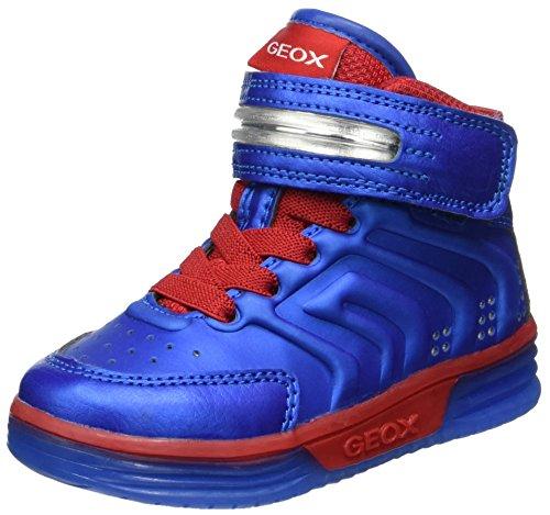 Geox Jungen J Argonat Boy B Hohe Sneaker, Blau (Royal/Red), 38 EU