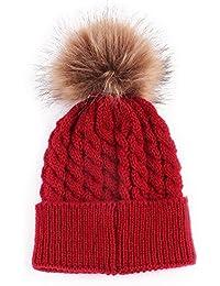 Womdee (TM) Baby Strickmütze Winter Wolle Gestrickte Hüte Kinder Beanie Mützen