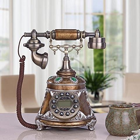 Chambre à coucher antique téléphone