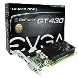 EVGA 01G-P3-1430-LR GeForce GT 430 1GB GDDR5 - Tarjeta gráfica (GeForce GT 430, 1 GB, GDDR5, 128 bit, 2560 x 1600 Pixeles, PCI Express 2.0)