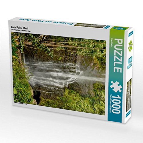 Twin Falls, Maui 1000 Teile Puzzle hoch