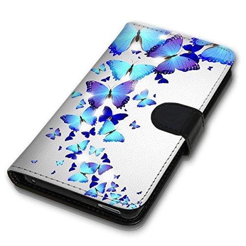 Wallet Book Style Flip Handy Tasche Case Schutz Hülle Schale Motiv Etui für Apple iPhone 6 / 6S - Variante UMV17 Design12 Design 2