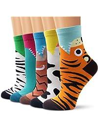 Calcetines , Ambielly Calidad Niña Algodón Novedad Rico Diseños Calcetines - Casual Cómodo, Cada día, Respirable Mujer Calcetines
