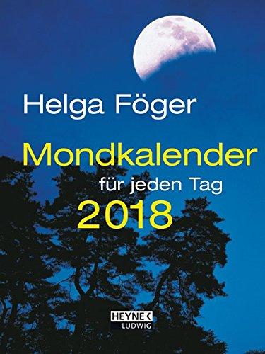 Mondkalender für jeden Tag 2018: Taschenkalender (Tasche-tag)