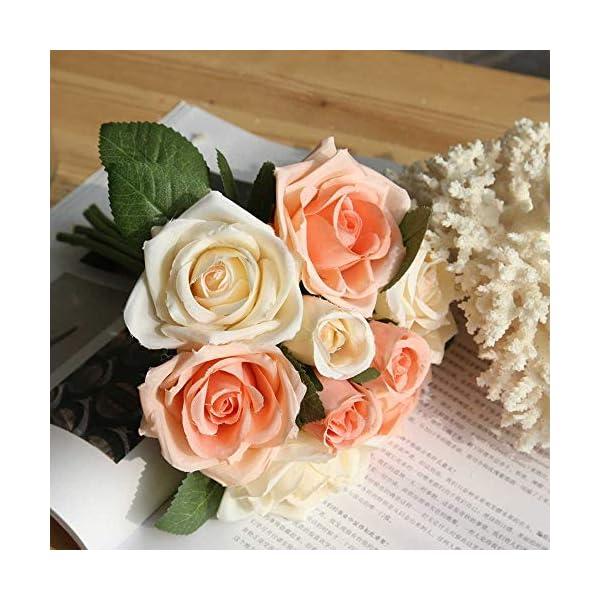 Ramo de flores artificiales de seda, peonías, para hogar o ramo de novia, decoración de estilo europeo, 6cabezas