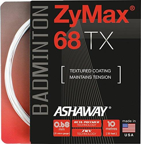 Victor ASHAWAY Zymax 68 TX - Weiß Set Badmintonsaite, One-Size