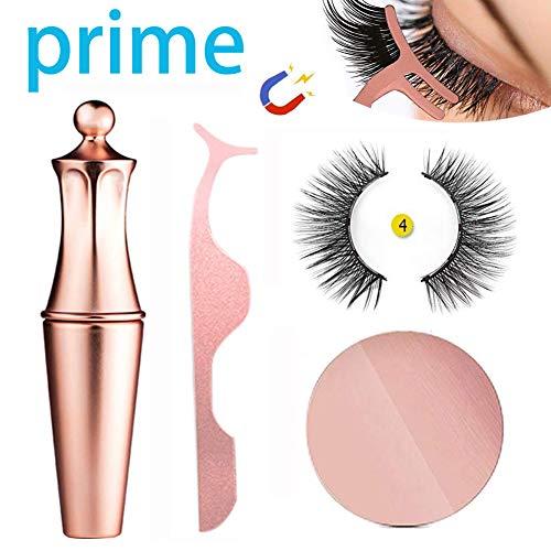 Magnetische Eyeliner Wimpern, Hilareco Magnetic Eyeliner Magnetic Eyelashes Kit Wasserdichter, Langlebiger Eyeliner Mit Falschen Wimpern Magnetischer Eyeliner -