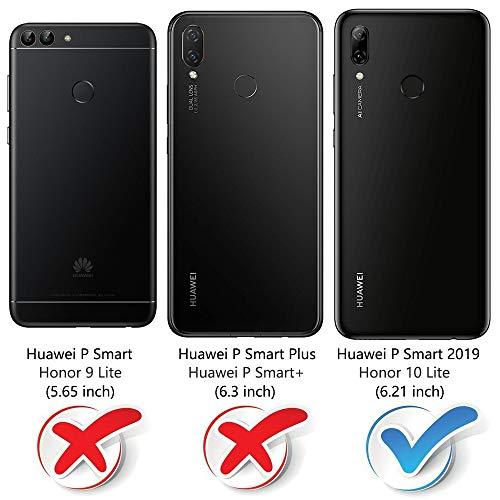 """MOBESV Coque pour Huawei P Smart 2019 6,21"""", Housse en Cuir Huawei P Smart 2019, Étui Téléphone Huawei P Smart 2019 Magnétique Etui Housse pour Huawei P Smart 2019, Élégant Noir"""