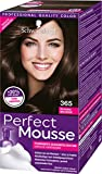 Schwarzkopf Perfect Mousse Permanente Schaumcoloration, 365 Schoko Brownie Stufe 3, 3er Pack (3 x 93 ml)