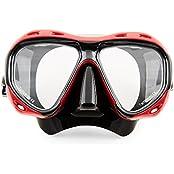 Profi Taucherbrille  Redfish  von Sportastisch mit Nase | Kinder ab 10 Jahre & Erwachsene | Tempered Glas | Antibeschlag-Schutz | 3 Jahre Garantie²