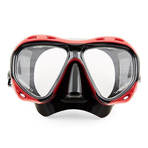 VERGLEICHSSIEGER-Profi-Taucherbrille-Redfish-von-Sportastisch-gehrtete-Anti-Beschlag-Glser-aus-Temperglas-ergonomisches-Design-ermglicht-grtmgliche-Sicht-extra-breite-Gummizone-mit-Nasenschutz-latexfr